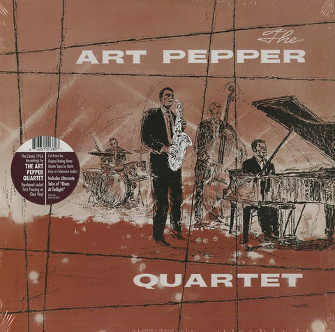 Art Pepper - The Art Pepper Quartet (1956) - New Vinyl Record 2017 Omnivore Record Store Day Individually Numbered Pressing on Clear Vinyl, LTD to 1000! - Jazz