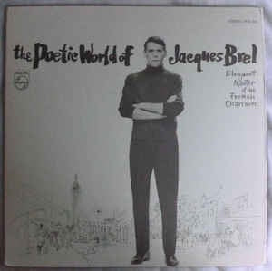 Jacques Brel ‎- The Poetic World Of Jacques Brel - VG+ Stereo Compilation Gatefold w/Book 1970 USA - Pop / Chanson / International