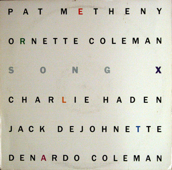 Pat Metheny / Ornette Coleman - Song X - Mint- 1986 Stereo USA - Free Jazz