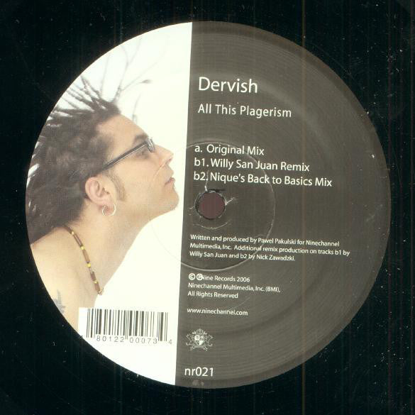 "Dervish ‎– All This Plagerism - Mint 12"" Single USA 2007 - Chicago House"