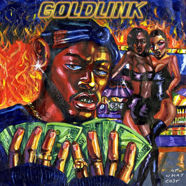 GoldLink ‎– At What Cost - New Vinyl 2017 RCA Gatefold 2-LP Pressing on Blue Vinyl with Download - Rap / Hip Hop