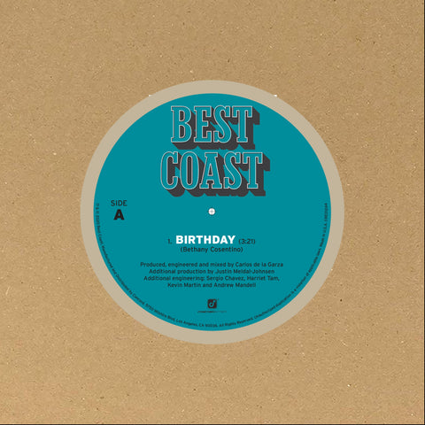 "Best Coast ‎– Thank You 7"" - New Single Record Store Day 2020 Indie Exclusive Vinyl - Indie Rock / Surf"
