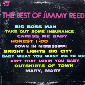 Jimmy Reed ‎– The Best Of Jimmy Reed - VG Lp Record 1968 UpFront USA Vinyl - Blues