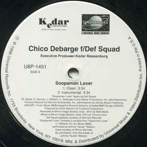 "Chico DeBarge ‎– Soopaman Lover - Mint- 12"" Single Record - 1998 USA Universal Vinyl - RnB / Hip Hop"