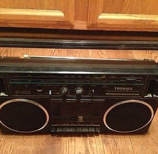 1986 Toshiba RT-6016 Boom Box Cassette Player & Radio / Made Japan / With Power Cord - Shuga Records Chicago