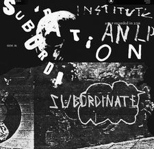 Institute ‎– Subordination - New Vinyl 2017 Sacred Bones Limited Edition 'Indie Exclusive' Clear Vinyl - Post-Punk