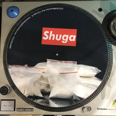 Shuga Records 2018 Limited Edition Vinyl Record Slipmat Cocaine Drugs Slip Mat