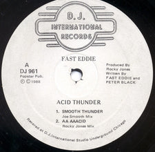 "Fast Eddie - Acid Thunder - VG- 12"" Single 1988 USA - Chicago Acid House"
