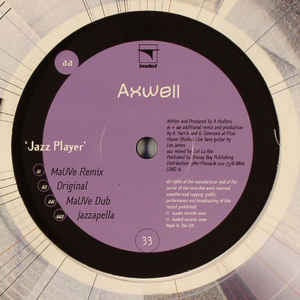 "Axwell ‎– Jazz Player - Mint 12"" Single Record 2000 UK Loaded Vinyl - House / Acid Jazz"