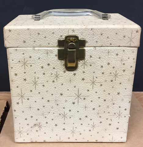 "7"" 45 Vintage Carry Carrying Case - STARS/Cream - Shuga Records Chicago"