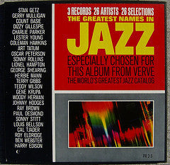 Various ‎– The Greatest Names In Jazz - VG+ 1960's Stereo USA 3 Lp Box Set - Jazz