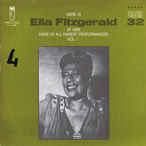 Ella Fitzgerald ‎– Here Is Ella Fitzgerald At Her Rare Of All Rarest Performances Vol. 1 - New LP Record 1980s Kings Of Jazz Italy Import Vinyl - Jazz / Big Band