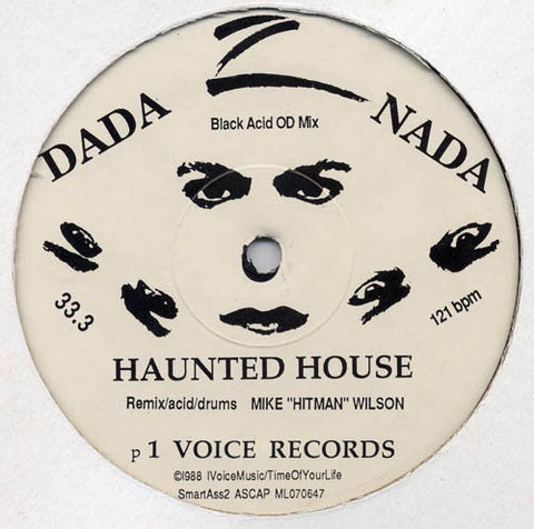"Dada Nada ‎– Haunted House - VG  12"" Single Record 1988 One Voice USA Vinyl - Acid House"