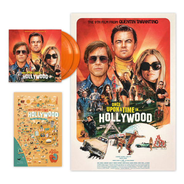 (Pre-Order) Various - Quentin Tarantino's Once Upon a Time in Hollywood Original Motion Picture - New 2 Lp Record 2019 USA Indie Exclusive Orange 180 gram Vinyl & 2 Huge Posters - Soundtrack