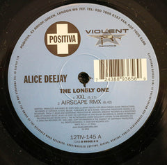 "Alice Deejay - The Lonely One VG+ - 12"" Single 2000 Positiva UK - Trance"