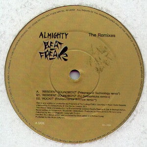 "Almighty Beatfreakz - The Remixes - M- 12"" Single 1998 Related USA - Breaks / Jungle"