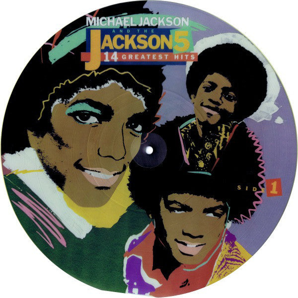 Michael Jackson And The Jackson 5 - 14 Greatest Hits! - VG+ 1984 Stereo USA Picture Disc - Soul/Disco