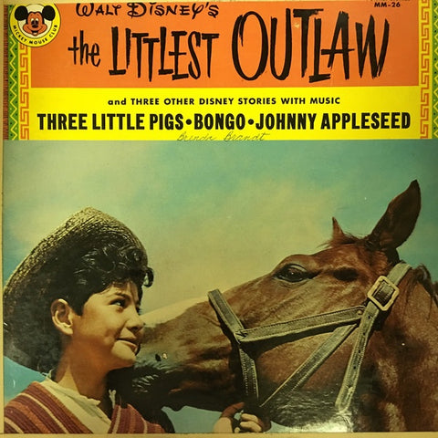 Various ‎- Walt Disney's The Littlest Outlaw - VG Mono 1963 USA Splitting Seams - Childrens / Spoken Word
