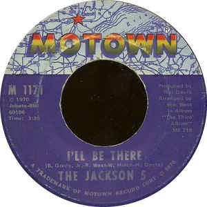 "The Jackson 5- I'll Be There / One More Chance - VG 7"" Single Record 45 1970 USA - Soul"