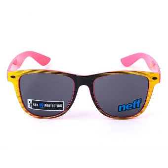 New NEFF Sunglasses 400 UV Protection - Black / Yellow / Pink NF0302
