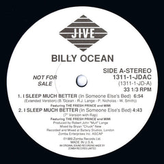 "Billy Ocean - I Sleep Much Better (In Someone Else's Bed) VG+ - 12"" Single 1989 Jive USA Promo- Synth-Pop"