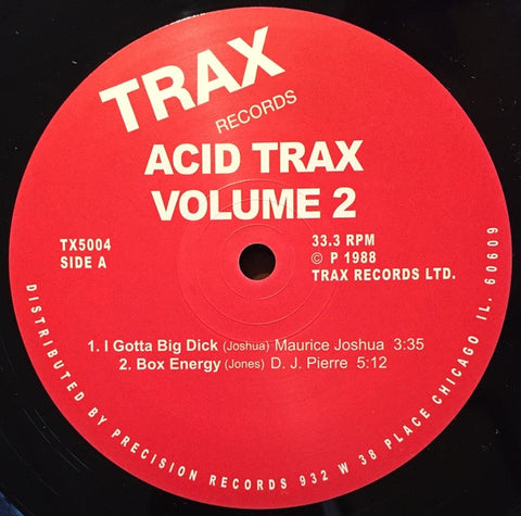 Various ‎– Acid Trax Volume 2 - New Vinyl 2 Lp 2015 Trax Records Compilation Reissue - Electronic / Acid House