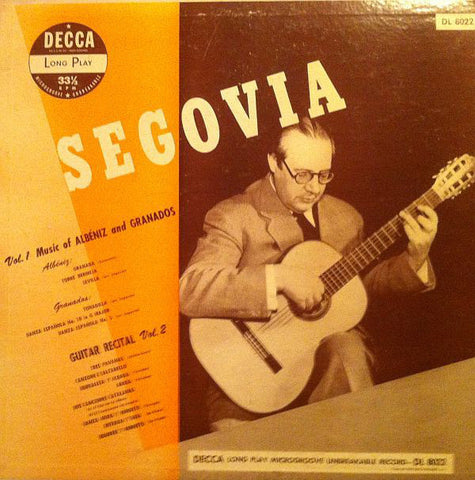Andrés Segovia ‎– Guitar Solos (1949) - VG+ Mono 1967 Press USA - Classical Guitar