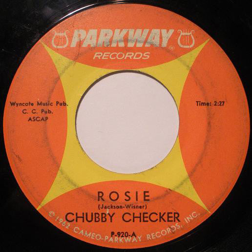 "Chubby Checker - Rosie / Lazy Elsie Molly VG+ - 7"" Single 45RPM 1964 Parkway USA - Rock"