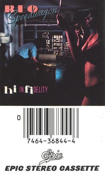 REO Speedwagon ‎– Hi Infidelity - Used Cassette Tape 1980 Epic - Pop Rock