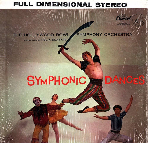 Felix Slatkin & The Hollywood Bowl Symphony Orchestra - Symphonic Dances - VG+ 1956 Stereo USA Original Press - Classical
