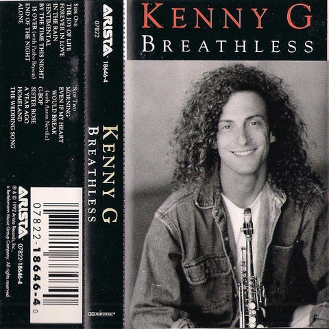 Kenny G ‎– Breathless - Used Cassette 1992 Artista - Jazz / Smooth Jazz