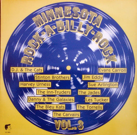 Various ‎– Minnesota Rock-A-Billy-Rock Vol.3 - VG+ Lp Record 1983 White Label Netherlands Import Vinyl - Rockabilly /  Surf