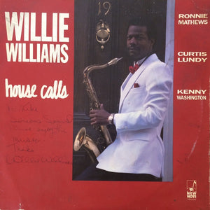 Willie Williams – House Calls - Mint- Lp Record 1987 USA Original Vinyl - Jazz