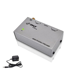 New PYLE PRO PP 444 Ultra Compact Phono Turntable Record Player Preamp