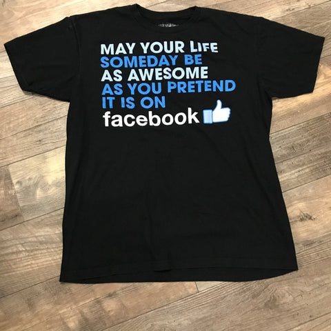 Facebook Black XL T-Shirt