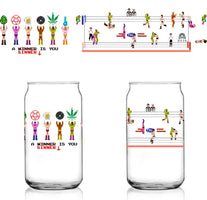 Weed & Beer Pro Wrestling NES 8-Bit Shuga Records 16 oz Libbey Can Glass Limited Batch1
