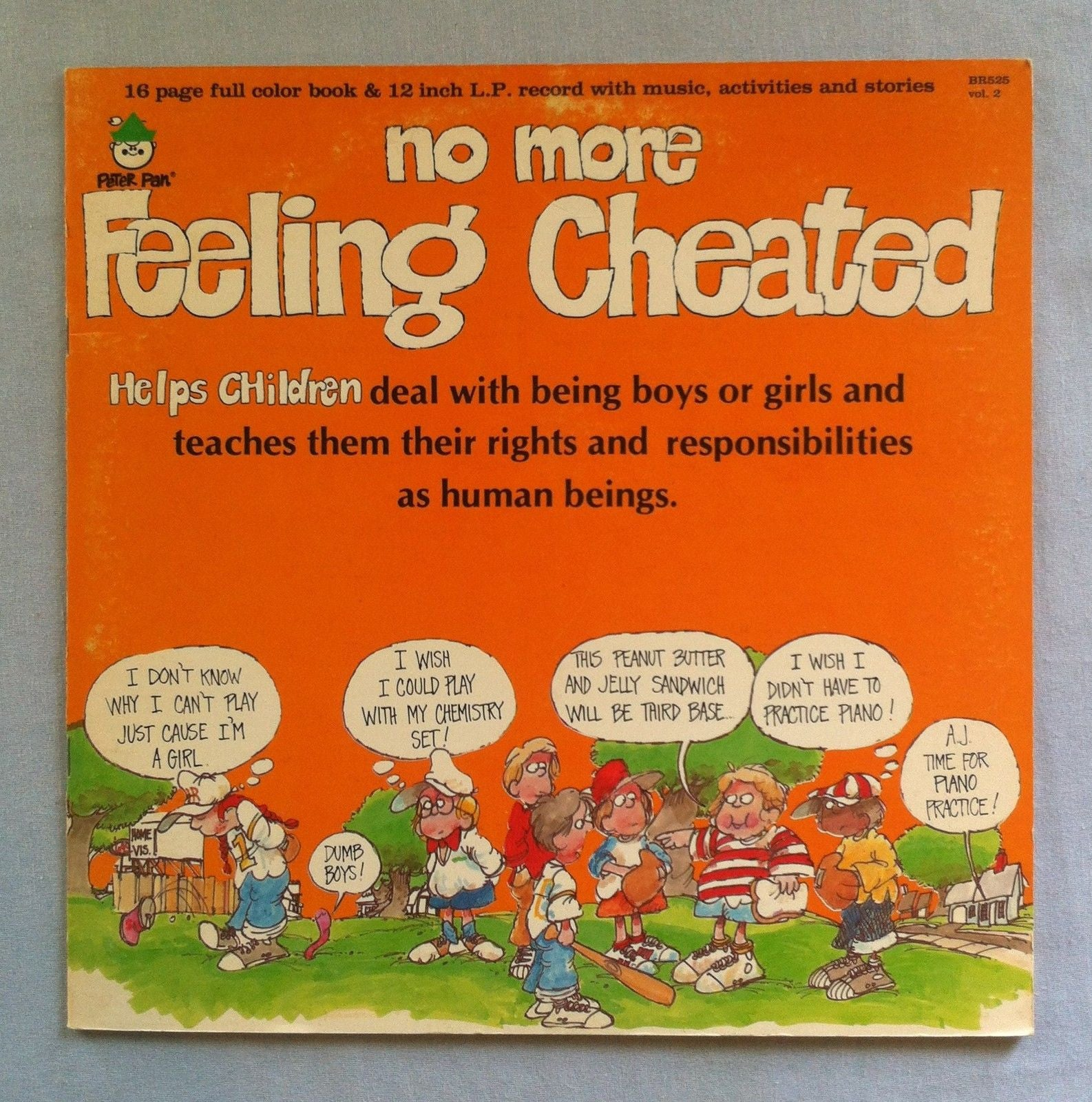 No More Feeling Cheated - VG 1982 Stereo USA (With Book) - Children's/Story, Therapy, Vocal