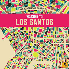 Alchemist & Oh No Present: Welcome to Los Santos (Grand Theft Auto V Soundtrack Collection) - New Vinyl 2015 Gatefold 2-LP Press on Colored Vinyl w/ Sticker Sheet