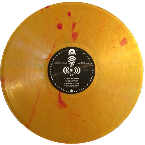 Various Artists - Multi-Tone Chicago Vol. 1 : Max Loebman and Adam's Picks - New Vinyl 2017 Shuga Records 'Warble Daze' Edition on Yellow with Blood Splatter Vinyl (Limited to 35!!) - Rock / Indie / Psych / Folk / Doom / Metal / Gnarrrrrr