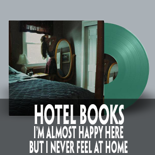 Hotel books I'm almost Happy here limited edition vinyl
