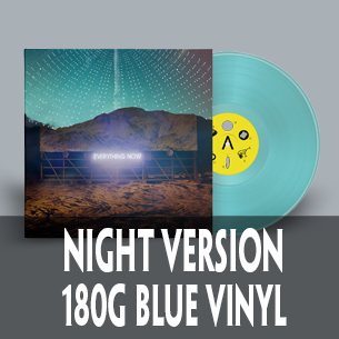 Arcade Fire Everything Now night version on blue vinyl