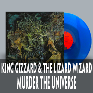 King Gizzard Murder The Universe on blood pool vinyl indie exclusive