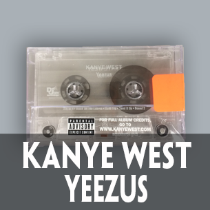 Kanye West Yeezus Official Cassette clear tape