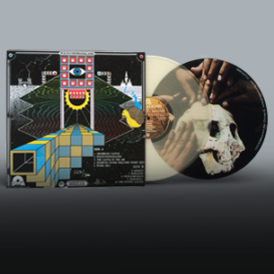 King Gizzard polygondwanaland on clear vinyl with slipmat, poster and sticker
