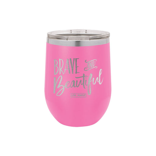 Brave & Beautiful Stemless Wine Cup 12oz