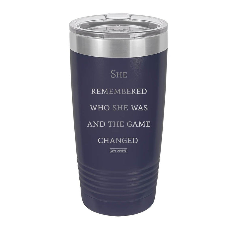 The Game Changed Tumbler