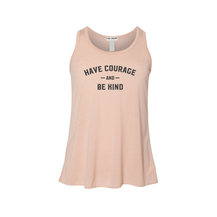 Have Courage & Be Kind Girls Flowy Racerback Tank