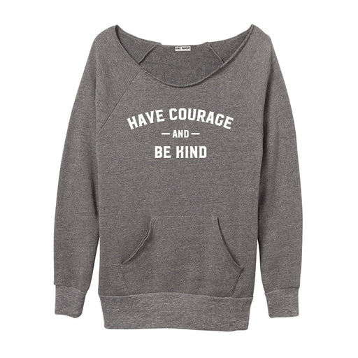 Have Courage Women's Off-The-Shoulder Sweatshirt