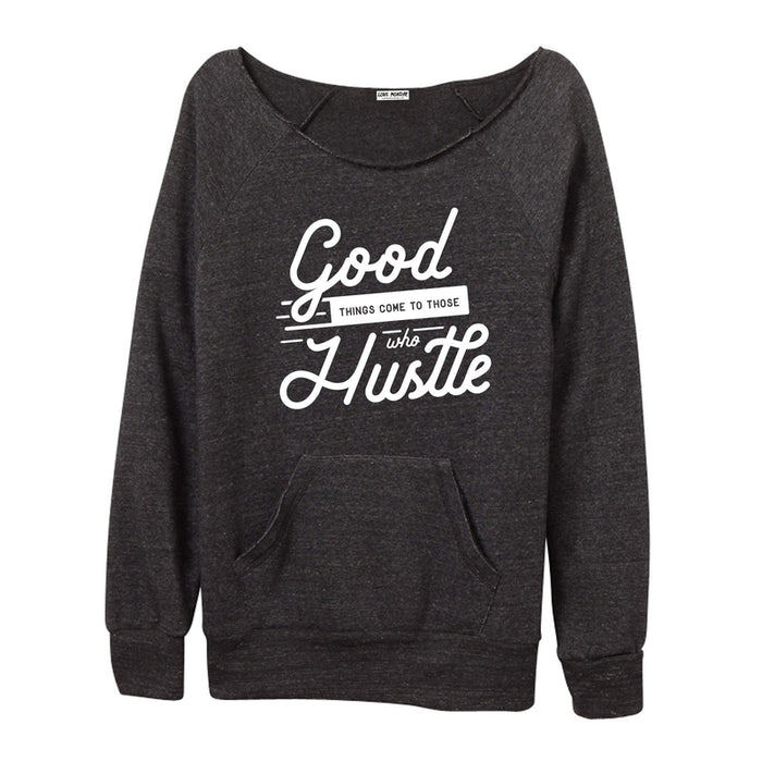 Hustle Women's Off-The-Shoulder Sweatshirt