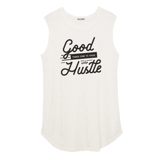 Good Things Come To Those Who Hustle Women's Muscle Tee